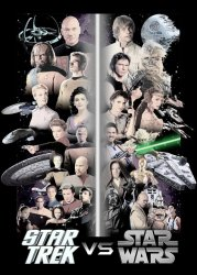 Star Trek vs Star Wars poster